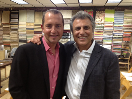 Mark Haloossim - President of Contempo floor coverings with celebrity designer Mark Brunetz