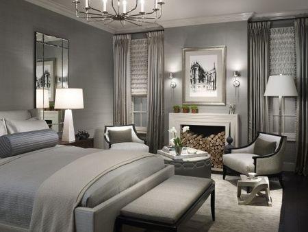 Dark grays in bedroom