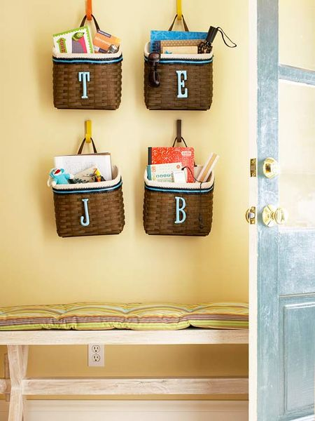 Entryway baskets