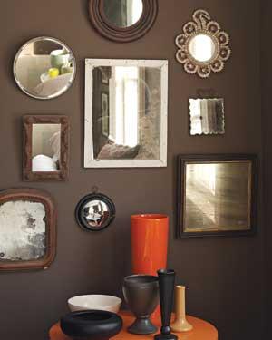 Dark brown walls