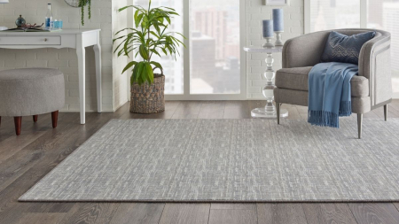 Cool-toned area rug