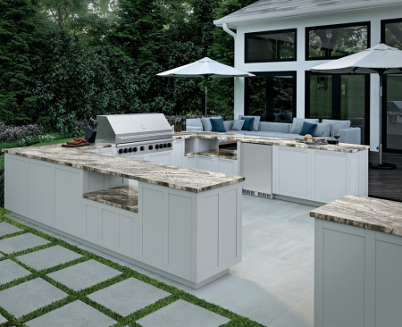 Daltile outdoor kitchen