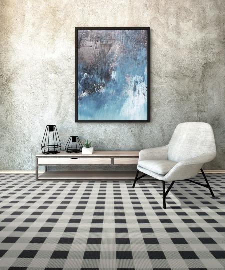 Checkered carpet karastan mohawk